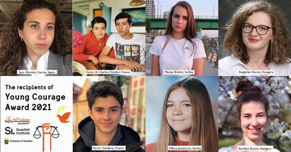 """Go to ДВЕ ДЕВОЈКЕ ИЗ СРБИЈЕ <br> Добиле шведску награду """"Млада храброст"""""""